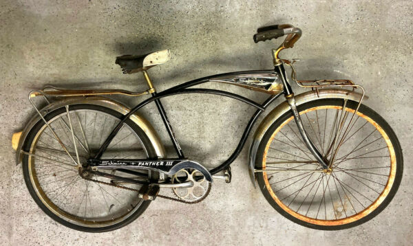 Schwinn #x27;Panther III#x27; chrome front rear racks and fenders chain guard. Vintage $950.00