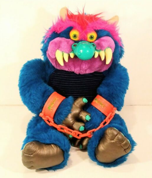 Vintage 1986 My Pet Monster Large 24quot; Toy With Cuffs AmToy 80s Stuffed Animal $485.00