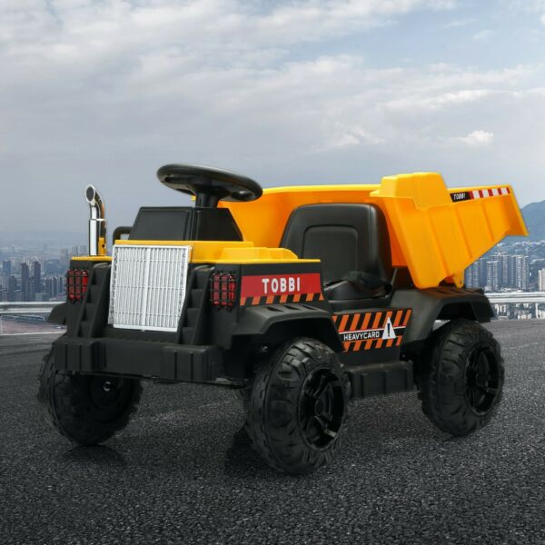 12V Kids Ride on Construction Tractor W Electric Bucket 2.4G Remote Control New $170.99