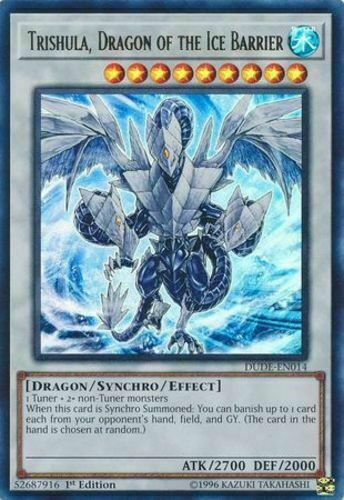 Trishula dragon of the ice barrier DUDE EN014 ultra rare 1st edition