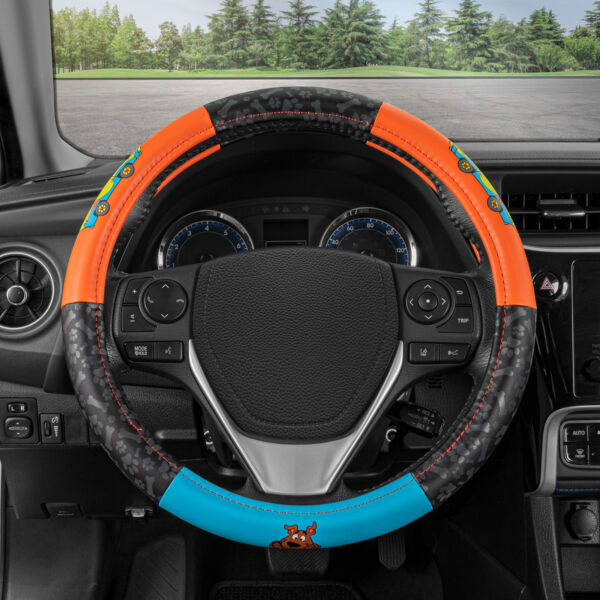 Scooby Doo Leather Steering Wheel Cover Car Truck Van SUV Universal Size $21.90
