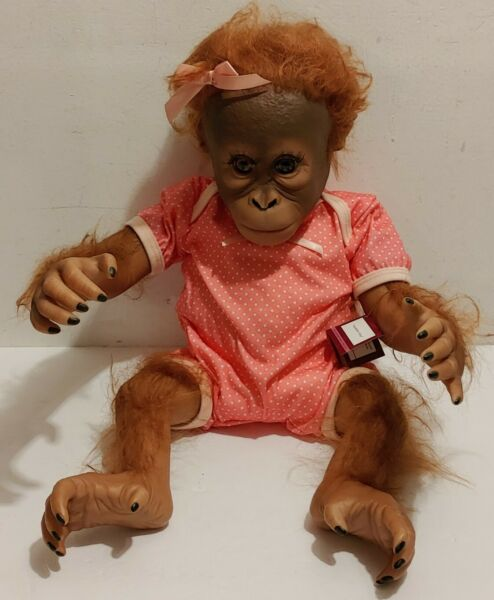 Ashton Drake Galleries Annabelle#x27;s Hugs Truly Real Monkey Doll By Ina Volprich