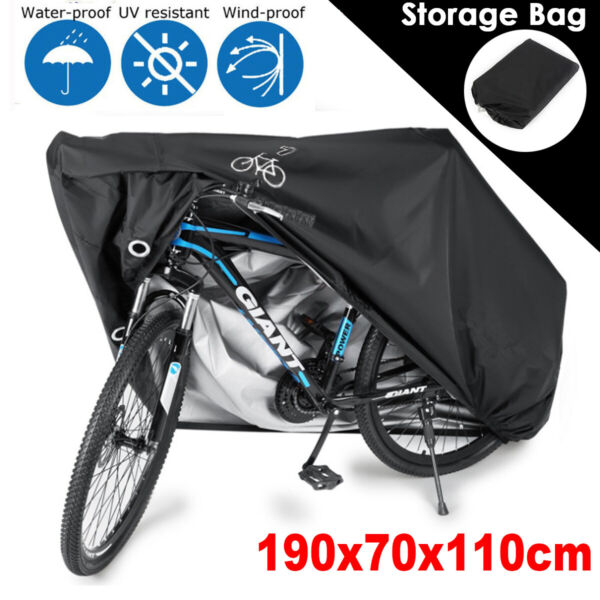 Waterproof Bicycle Cover Anti UV Dust Outdoor For Bike Storage w Bag Polyester $13.89