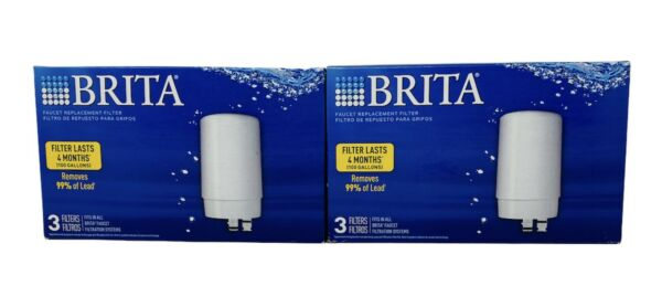 2: Brita 3 PACK Replacement Faucet Water Filters quot; Total 6 Filters 2 Yearsquot;