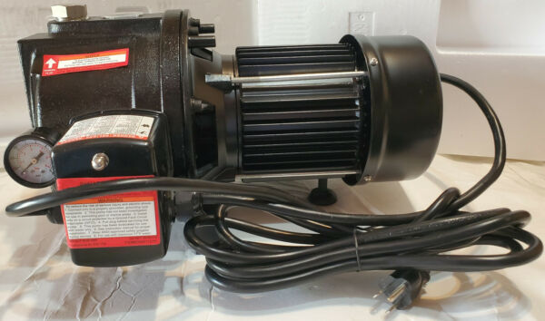 1 HP Water Well Pump w Pressure Control on off Switch Cast Iron 1350 GPH 12amp $130.00