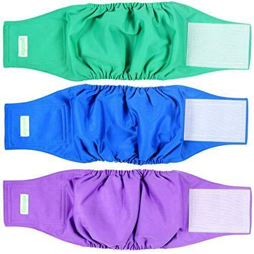 wegreeco Washable Dog Diapers Washable Male Dog Belly Wrap Pack of 3 $24.99