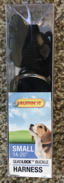 Ruffin#x27; It Quadlock Buckle Dog Harness SMALL 14quot; to 20quot; Black. NEW $9.99