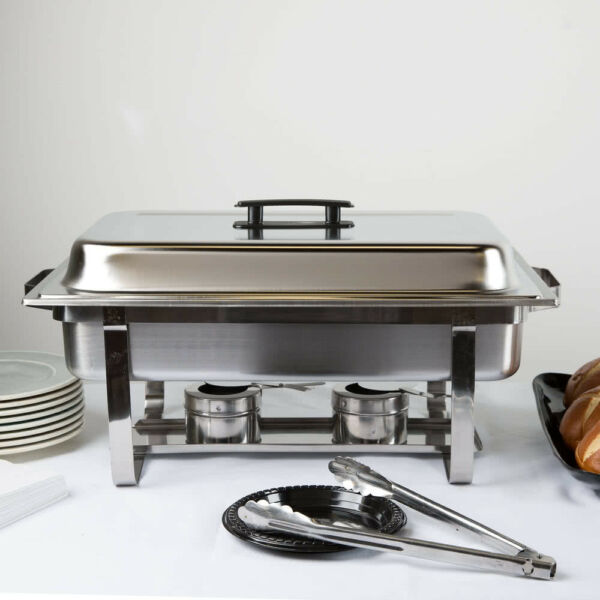 Full Size 8 Qt Stackable Stainless Steel Chafing Dishes Catering