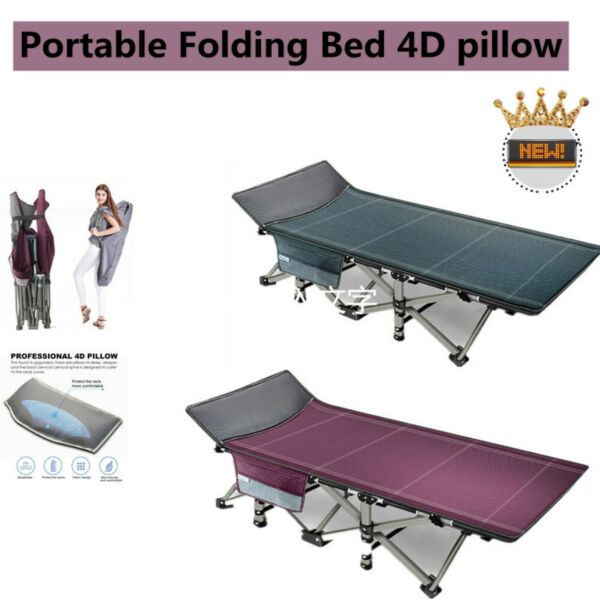 Portable Folding Bed 4D pillow Widely Used Outdoor Hiking Travel W Carrying Bag $65.90