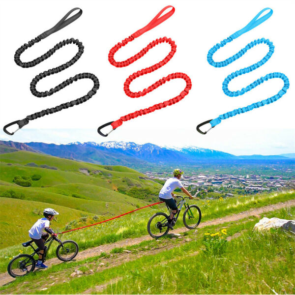 Bicycle Towing Rope for Kids MTB Trailer Bike Elastic Belt Reflective Bungee $15.99
