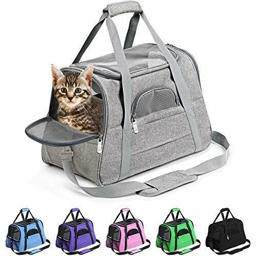 Pet Carrier Airline Approved Pet Carrier Dog Carriers for Small Medium Grey $31.15