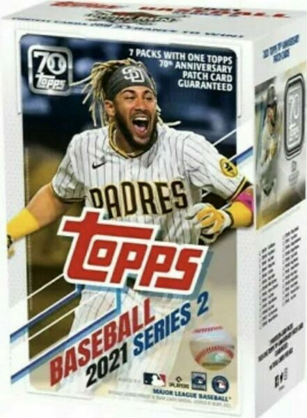 2021 Topps Baseball Series 2 Factory Sealed Blaster Box with EXCLUSIVE Patch
