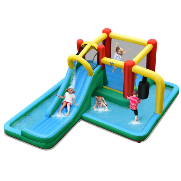 Costway Slide Water Kit Climbing Bouncer Pendulum Tunnel Game Without Blower $279.00