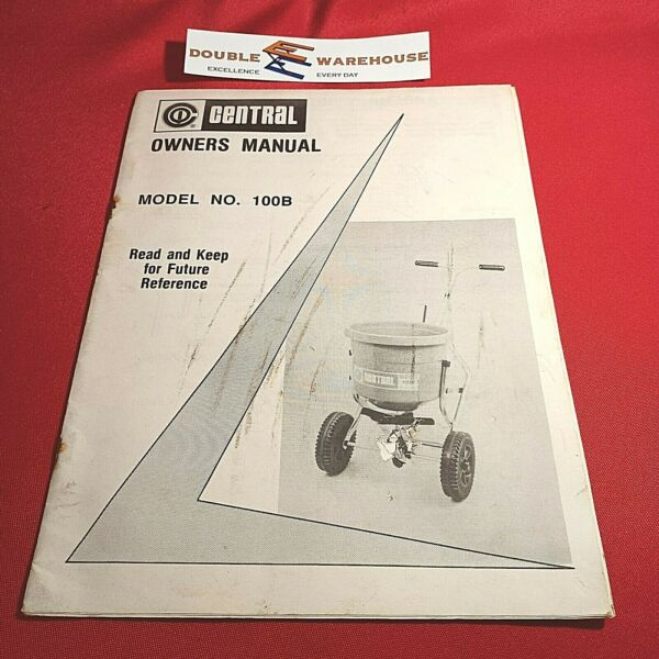 OEM Central Model 100B Owners Manual $8.75