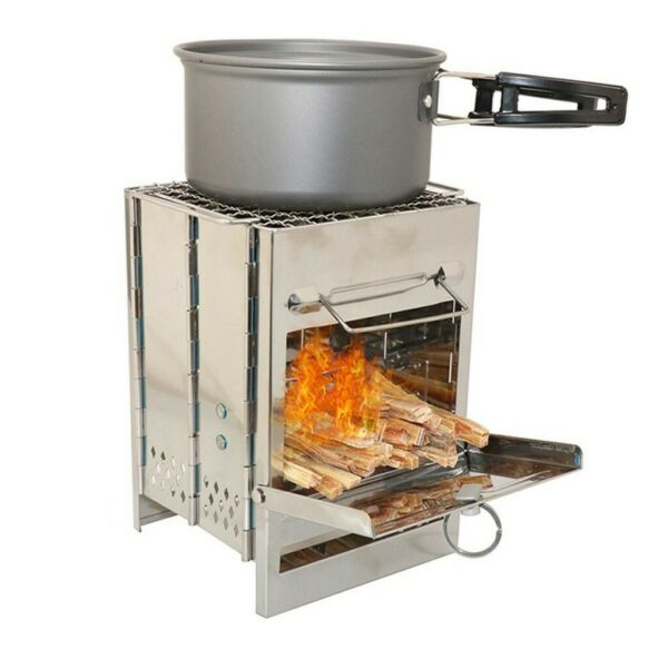 ❤A Portable Wood Oven For Barbecue Can Be Folded Into A Box For Easy Carrying $32.99
