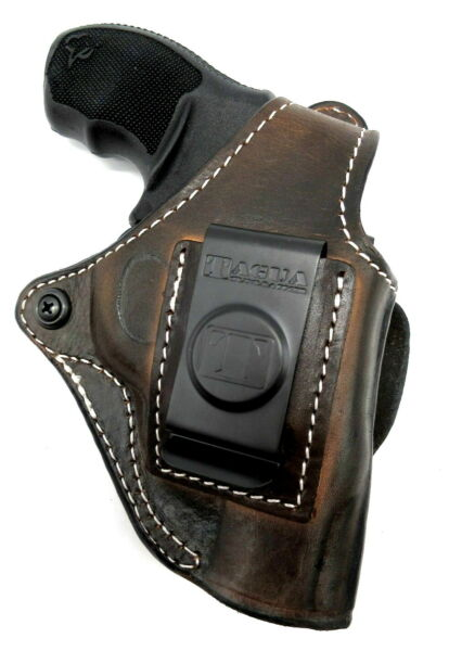 TAGUA Brown Leather 4 in 1 OWB IWB Thumb Break Holster For Taurus 856 2quot; Revolve