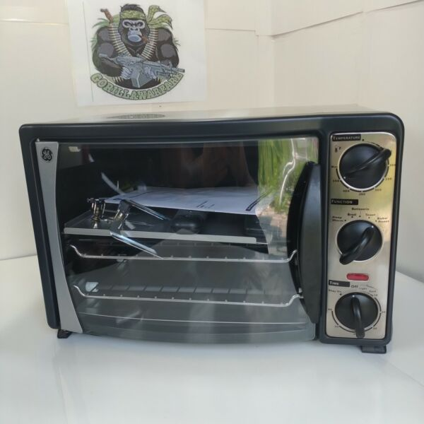 GE Counter Top Oven With Rotating Rotisserie amp; Manuals Stainless