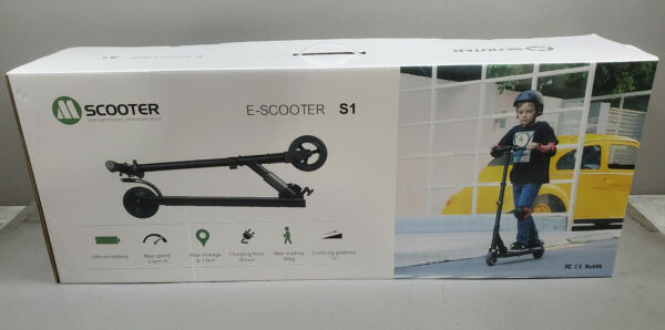 Megawheels Electric Scooter S1 Folding E Scooter Adjustable 250W 23KM H BLACK $125.00