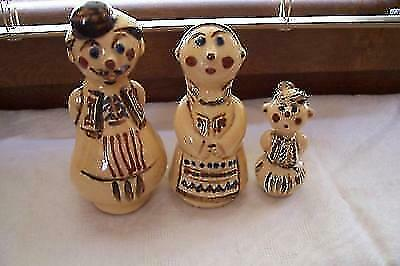 Bulgarian family sculptures in costumes Very rare EXCELLENT $54.49