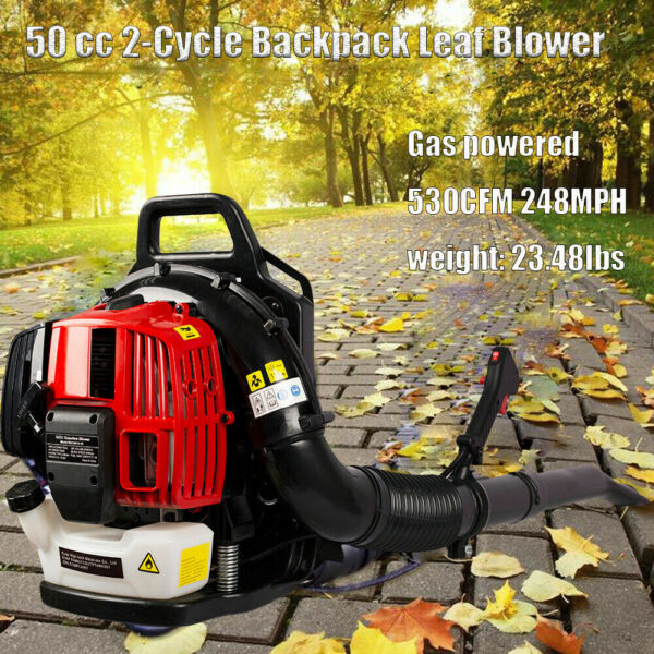 Leaf Blower Backpack Gas powered Blower 2 Strokes Grass Lawn Blower Sweeper US