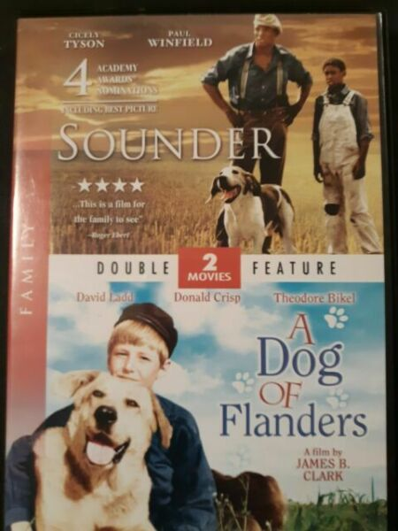 SOUNDER amp; A DOG OF FLANDERS Dog Movie Double Feature DVD $5.99