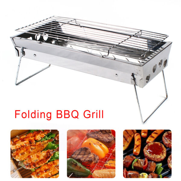 Portable Barbeque Grill BBQ Kebab Stove Camping Folding Grill Cooking Tools