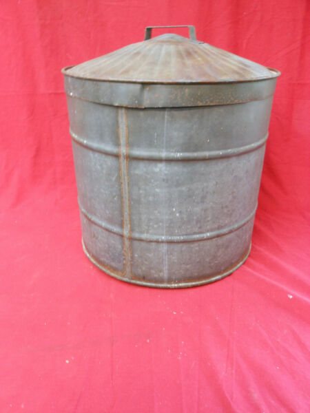 Unique Large Vintage Galvanized Can with Drain amp; Removable Lid $44.99