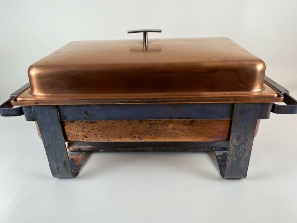 Copper Buffet Chafing Dish Rectangular Large A