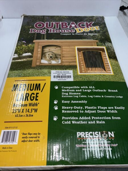 Precision Pet Products Outback Dog House Door Medium Large Clear $27.99
