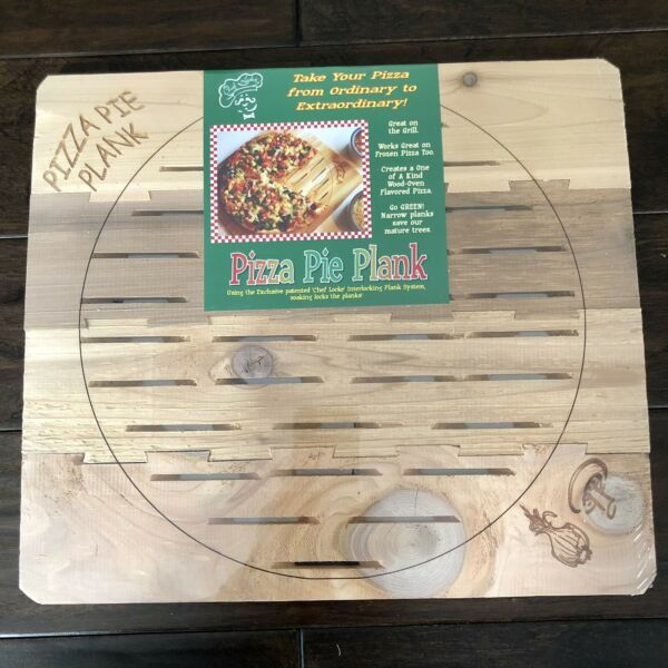 Chef Locke Wood Pizza Pie Plank BBQ Tailgating Wood Oven Flavored Pizza $15.00