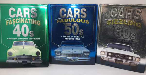 """2002 Car Collectors Coffee Table Books Auto Editor#x27;s quot;Cars Of The40s 50s 60s"""""""