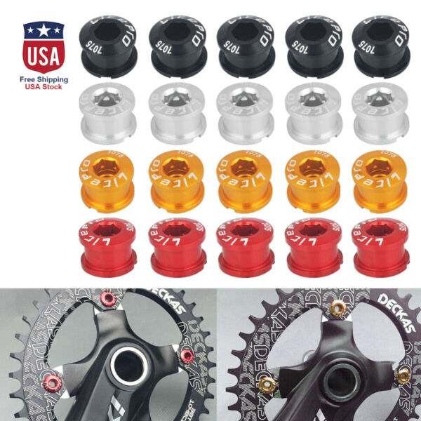 5* Alloy Bicycle Chainring Bolts Screws MTB Road Bike Single Speed Chain Ring $7.85