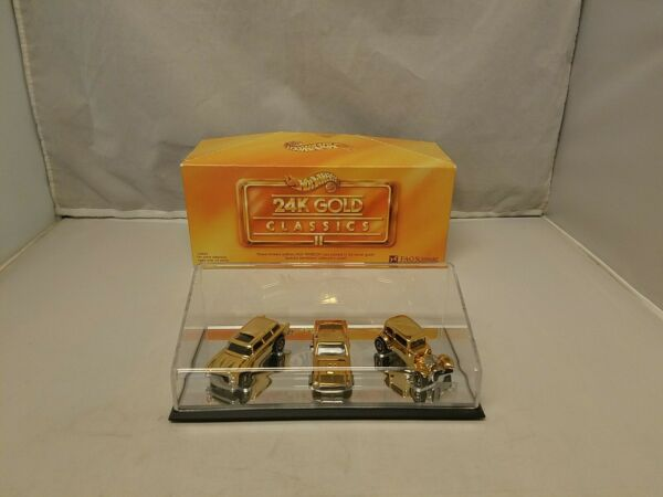 Hot Wheels FAO 24K Gold Classics II Chevy Nomad #x27;67 Mustang #x27;32 Ford Vicky