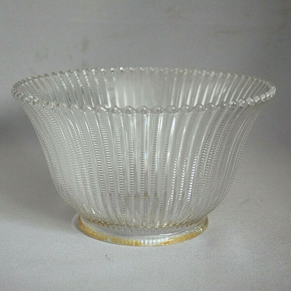 ANTIQUE VINTAGE ETCHED GLASS GAS LIGHT SHADE CEILING LAMP ZIPPER CUT 4quot; Fitter $19.99
