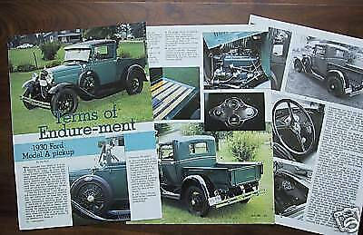 p 30 1930 Ford Model A Pickup Truck Info