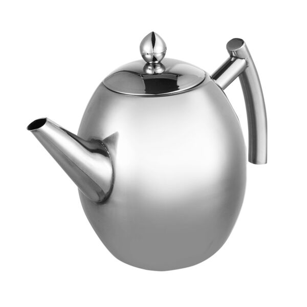 Stainless Steel Teapot Coffee Pot Water Kettle With Filter Large Capacity 1L