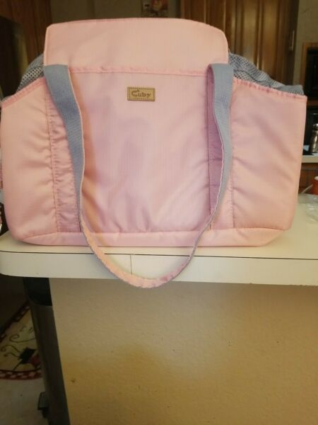 Cuby Pink Cat Dog Carrier Tote Super light carry like purse Nylon Mesh New $23.00