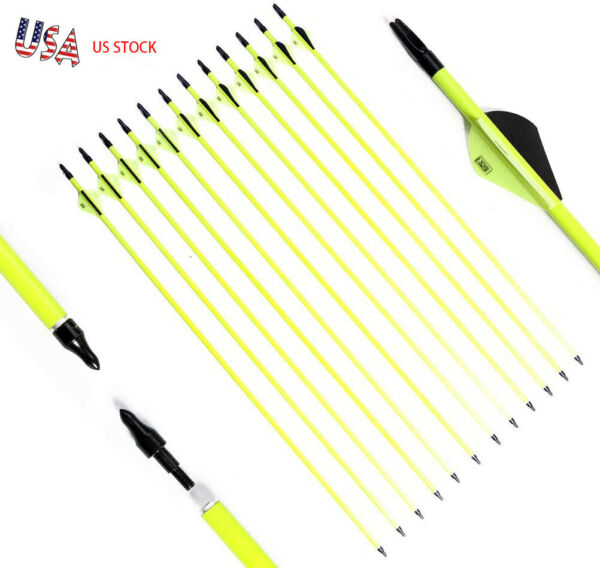 12Pack 30 INCH Archery Hunting Carbon Arrows for Compound amp; Recurve Bow SP 500 $28.88