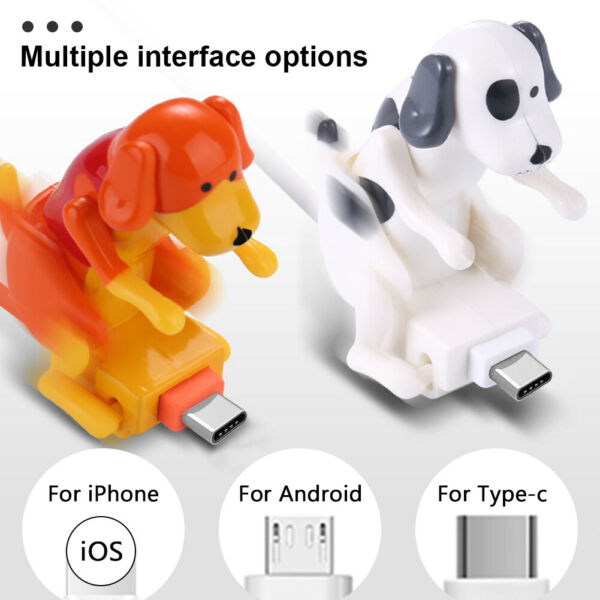 For iOS Type C Micro USB Smartphone Funny Humping Dog Fast Charging Cable 1.2m $7.47
