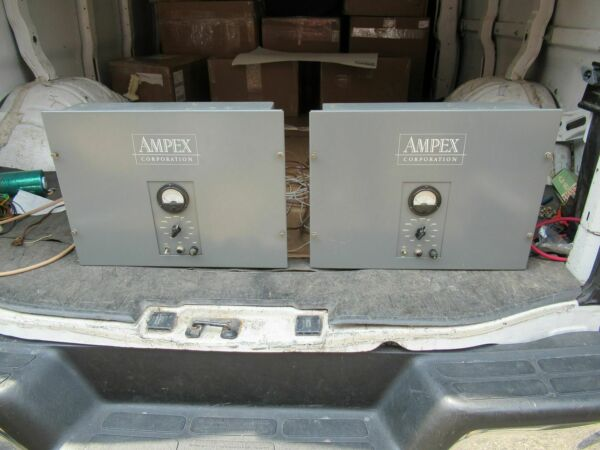 2 Ampex theatre amplifier for western electric speaker