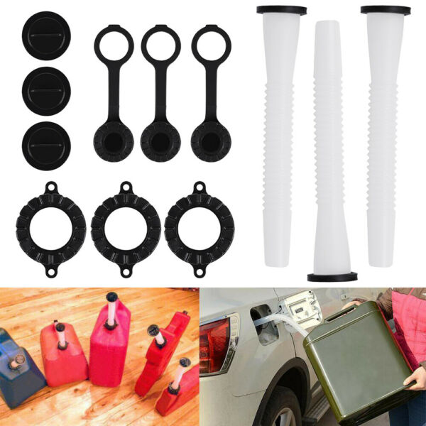 3 Replacement Spout Parts Kit Blitz Rubbermaid Rubbermade Fuel Gas Can Container $13.80