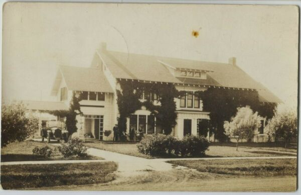 1921 Elcho Wisconsin Fisher House Real Photo Postcard RPPC $24.99