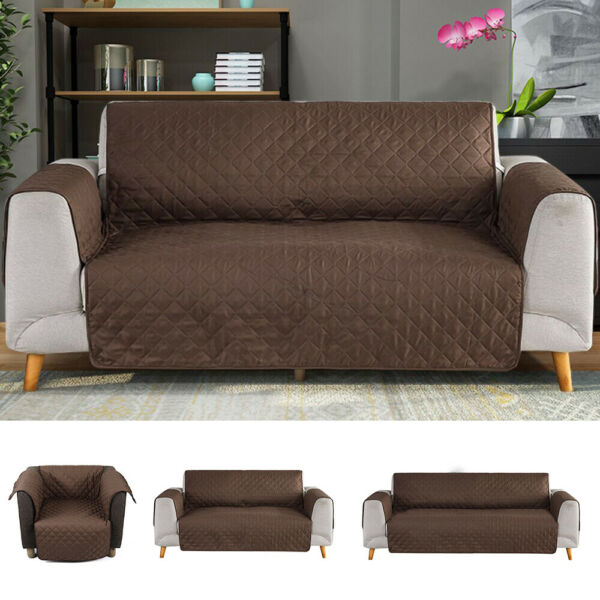 Waterproof Slipcover Sofa Cover Chair Couch Pet Dog Kids Mat Furniture Protector $7.96