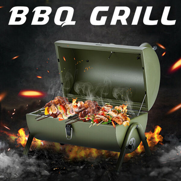 Outdoor BBQ Charcoal Grill Smoker Barbecue Pit Patio Backyard Meat Cooker