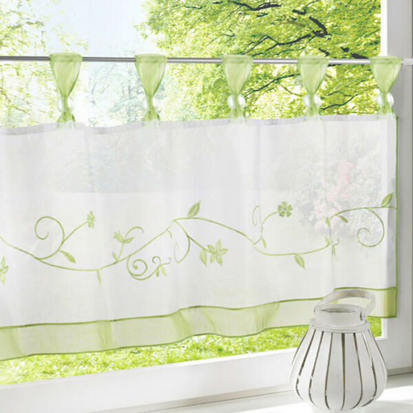 Simple Coffee Curtain Kitchen Supplies Fresh Embroidered High Density Trion LP