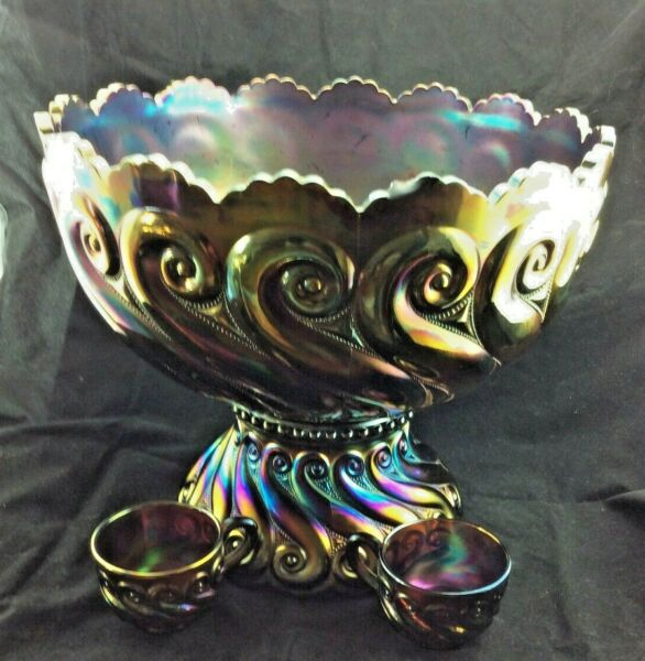 Dugan S Repeat Purple Punch Bowl Base and 2 Cups