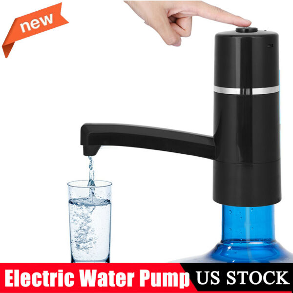 Automatic Wireless Rechargeable Electric Gallon Bottle Pump Water Dispenser $13.29