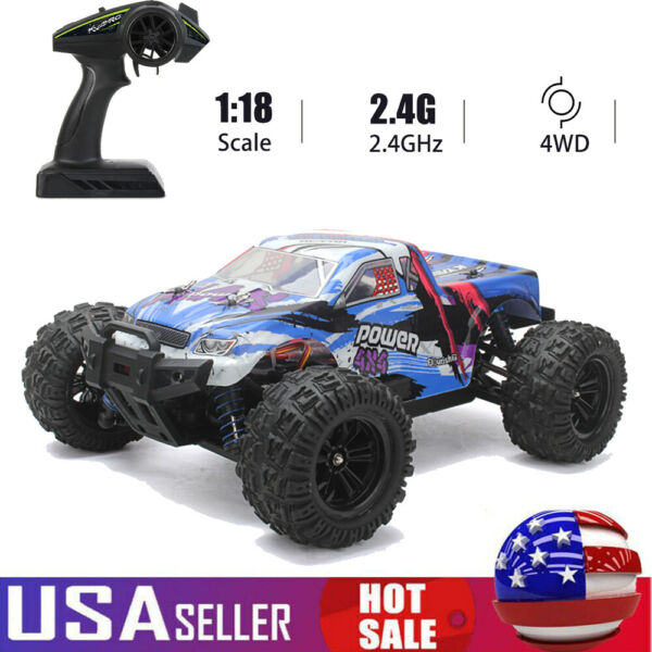 KYAMRC KY 2819A 1:18 Car 4WD Remote Control 35KM H Speed Vehicle For Adults E6Y4 $36.09