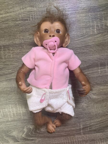 Ashton Drake Clementine Baby Monkey Doll By Linda Murray Reborn Authentic Real