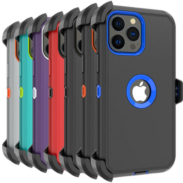 For iPhone 13 Pro 13 Pro Max Case Shockproof Heavy Duty CoverBelt Clip Holster $10.59